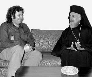 Микис Теодоракис и Кипрский архиепископ Макариос