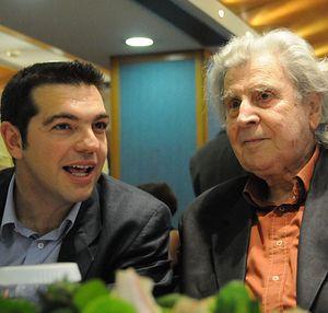 Алексис Ципрас и Микис Теодоракис