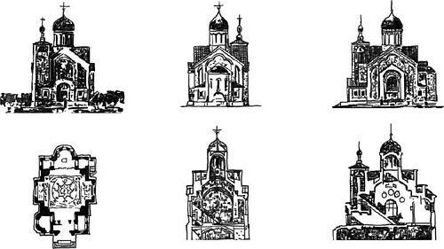 В.А. Косяков. Проект православной церкви при Русской дипломатической миссии в Сеуле. 1904 г.