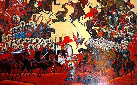 Косовски боj. Савремена икона. Фото: jером.Игнатиjе Шестаков