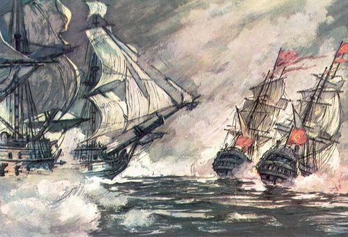Морской бой в Керченском проливе 8 июля 1790 года. И.И. Родинов