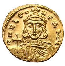 Монета с изображение Льва III Исавра