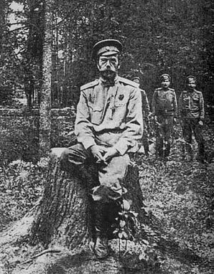 Император Николай II после отречения