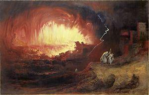 The Destruction Of Sodom And Gomorrah, by John Martin. 1852.