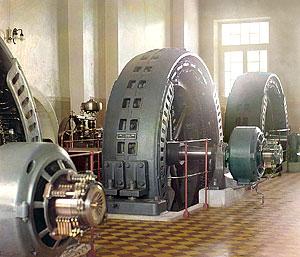 Генераторы тока. Фотография С.М. Прокудина-Горского (начало XX века).