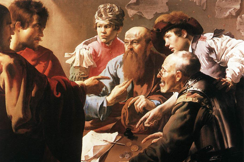 Призвание апостола Матфея. Хендрик Тербрюгген, 1621.