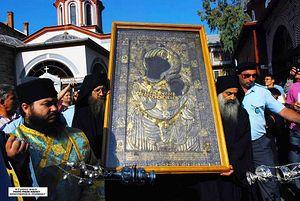 Крестный ход с Иверской иконой