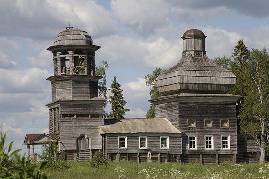 Кудласевич Иоанн. Вид на Богоявленский храм с. Поле