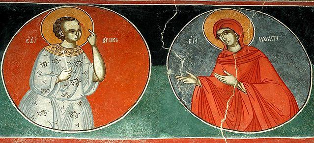 Святые мученики Кирик и Иулитта. Фреска в Успенском храме монастыря Пива. Черногория. Фото: иером Игнатий (Шестаков)