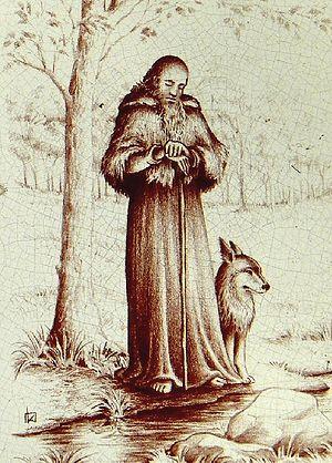 Святой Гервей Плувьенский и его ручной волк