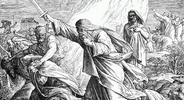 Поражение пророков Вааловых. Julius Schnorr von Carolsfeld