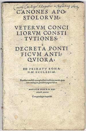 «Правила святых апостолов». Издание XVI века