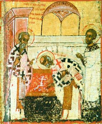 Поставление святого Николая Чудотворца в епископы