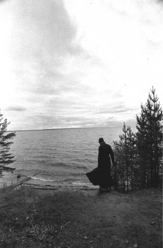 Ладожское озеро скит на о. Коневец . 1993 г. Фото: Геннадий Михеев