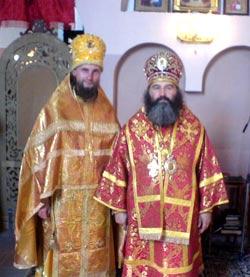 Епископ Мукачевский и Ужгородский Агапит и архимандрит Петр (Прядко)