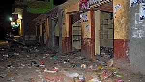 Коптский магазин, пострадавший во время беспорядков в Дахшуре. Фото: AINA
