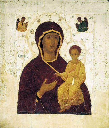 Смоленская икона Божией Матери. Автор: Дионисий. 1482 год