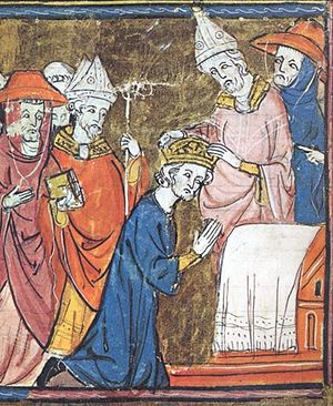 Папа Лев III коронует Карла Великого