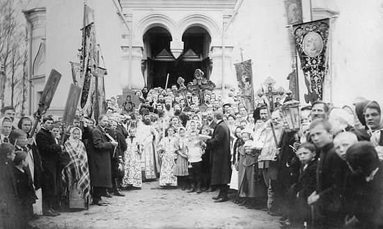 Митрополит Вениамин на освящении Свято-Георгиевского храма. Ложголово, 1912 г.