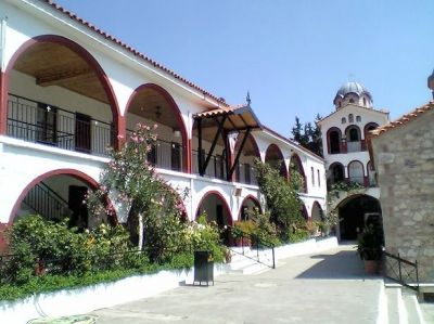 В монастыре преподобного Давида Эвбейского