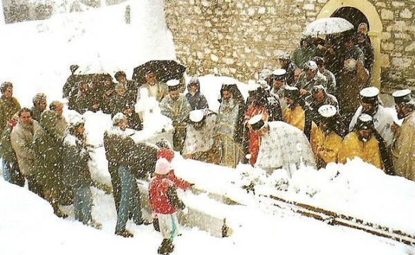 В монастыре преподобного Давида Эвбейского на 40-й день после кончины старца Иакова (Цаликиса)