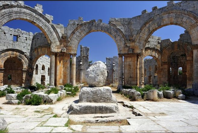 The Church of St. Simeon the Stylite commemorates the 5th-century ascetic. Photo: Getty Images.