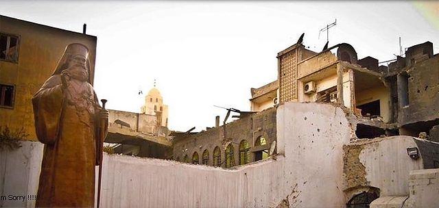 Храм Сорока мученников после атаки боевиков