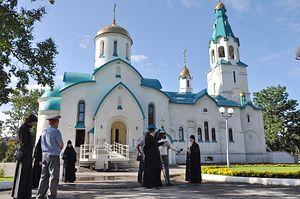 Епископ Южно-Сахалинский и Курильский Тихон комментирует журналистам случившееся