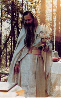 Father Seraphim at his last Paschal service in Platina.