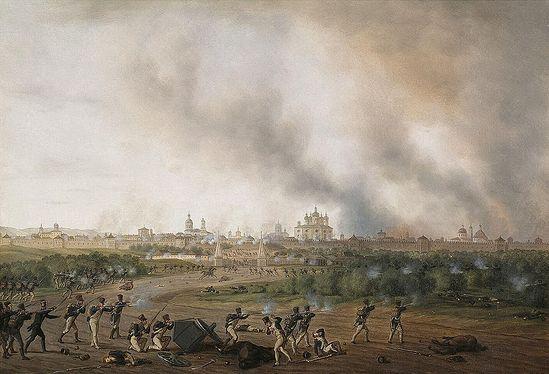 Альбрехт Адам. Битва за Смоленск. Ок. 1820 г.