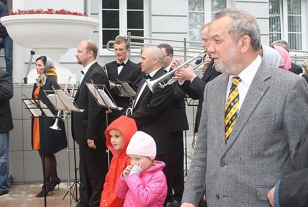 На открытии обновленной гимназии свт. Василия Великого
