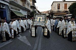 Крестный ход в день памяти святого в городе Фермо, 2012 г.