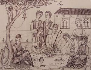 Проповедь святого Космы (рисунок)