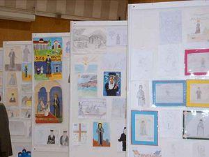 Дети рисуют святого Косму