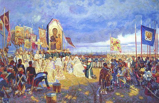Молебен перед Бородинским сражением. Автор: Егор Зайцев