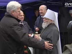Мэр Таллина Эдгар Сависаар и Митрополит Таллинский и всея Эстонии Корнилий