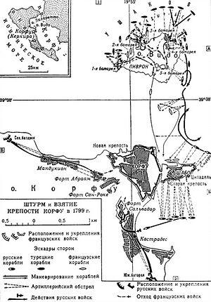 Штурм и взятие крепости Корфу в 1799 году