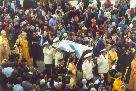 Торжество прославления адмирала Феодора Ушакова. Санаксарский монастырь, 2001 год