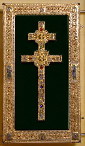 Воссозданный в 1997 году крест прп. Евфросинии Полоцкой. Автор: Николай Кузьмин