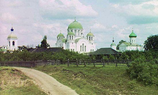 С.М. Прокудин-Горский. Спасо-Евфросиньевский женский монастырь, в 3-х в. от г. Полоцка. Вид с юга. Фото 1912 г.