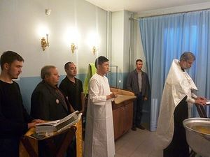 The baptism of Tokashi Kishi.