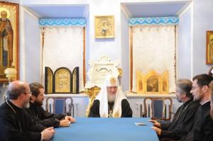 Святейший Патриарх Московский и всея Руси Кирилл принял делегацию Румынской Православной Церкви