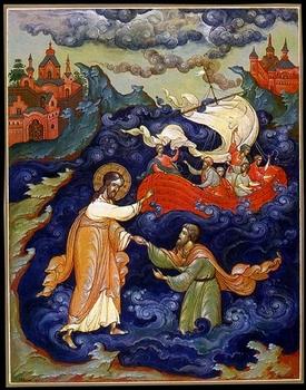 Бушков В.А. Хождение Иисуса Христа по водам. Палех