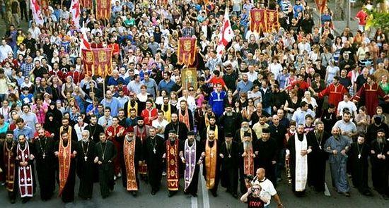 Освящение Тбилиси накануне выборов, Возвижение Креста Господня,27 сентября 2012