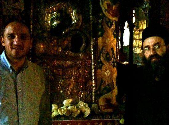 С игуменом монастыря Ивирон о.Нафанаилом
