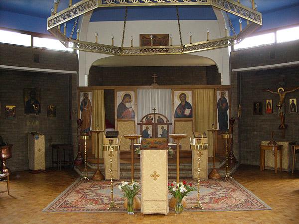 Оксфорд. Интерьер Православной Церкви на Кентербери роуд