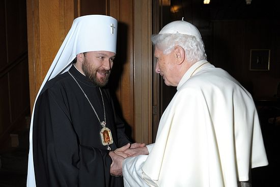 Митрополит Волоколамский Иларион встретился с Папой Римским Бенедиктом XVI