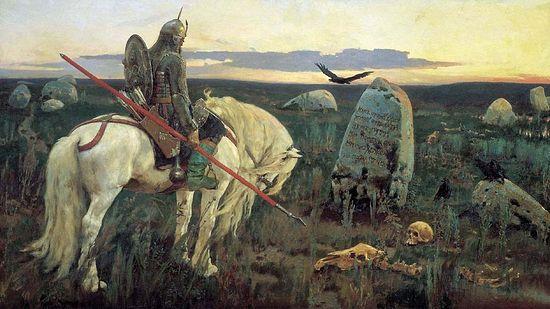 Виктор Васнецов. Витязь на распутье. 1882. ГРМ, СПб
