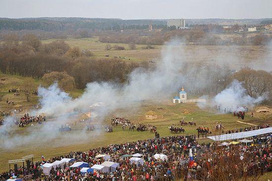 Реконструкция битвы под Малоярославцем. 21 октября 2012 года