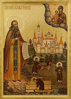 Святой преподобный Иосиф Волоцкий. Иконописная мастерская Екатерины Ильинской